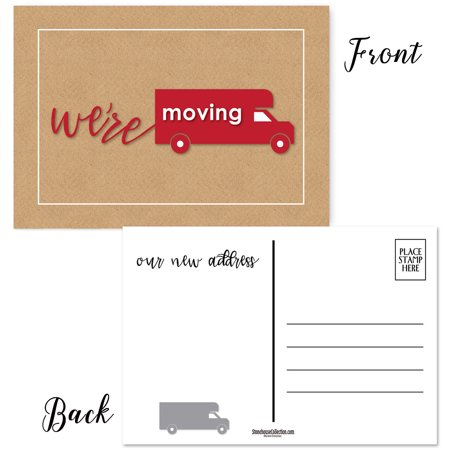 50 We're Moving Postcards - New Business Address or New Home Address Announcement Cards ()