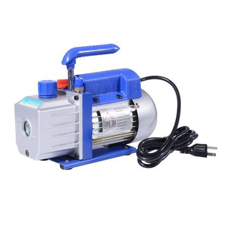 HOMCOM Single Stage 4 CFM Rotary Vane 1/3 HP HVAC Refrigerant Vacuum Pump