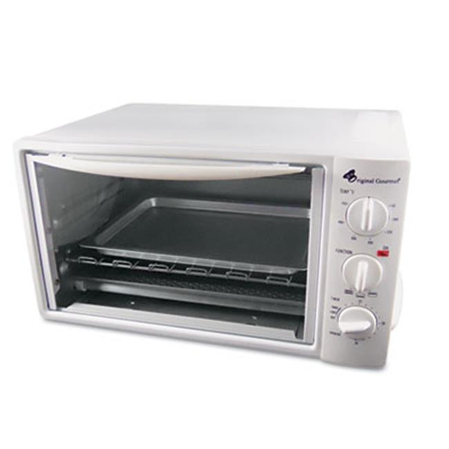 Coffee Pro OG20 Multi-Function Toaster Oven with Multi-Use Pan  15 x 10 x 8  White