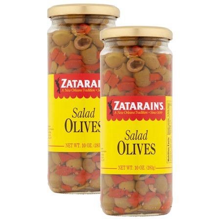 (2 Pack) Zatarain Salad Olives, 10 oz. Jar