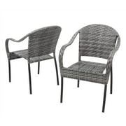 Outdoor Chair in Gray - Set of 2