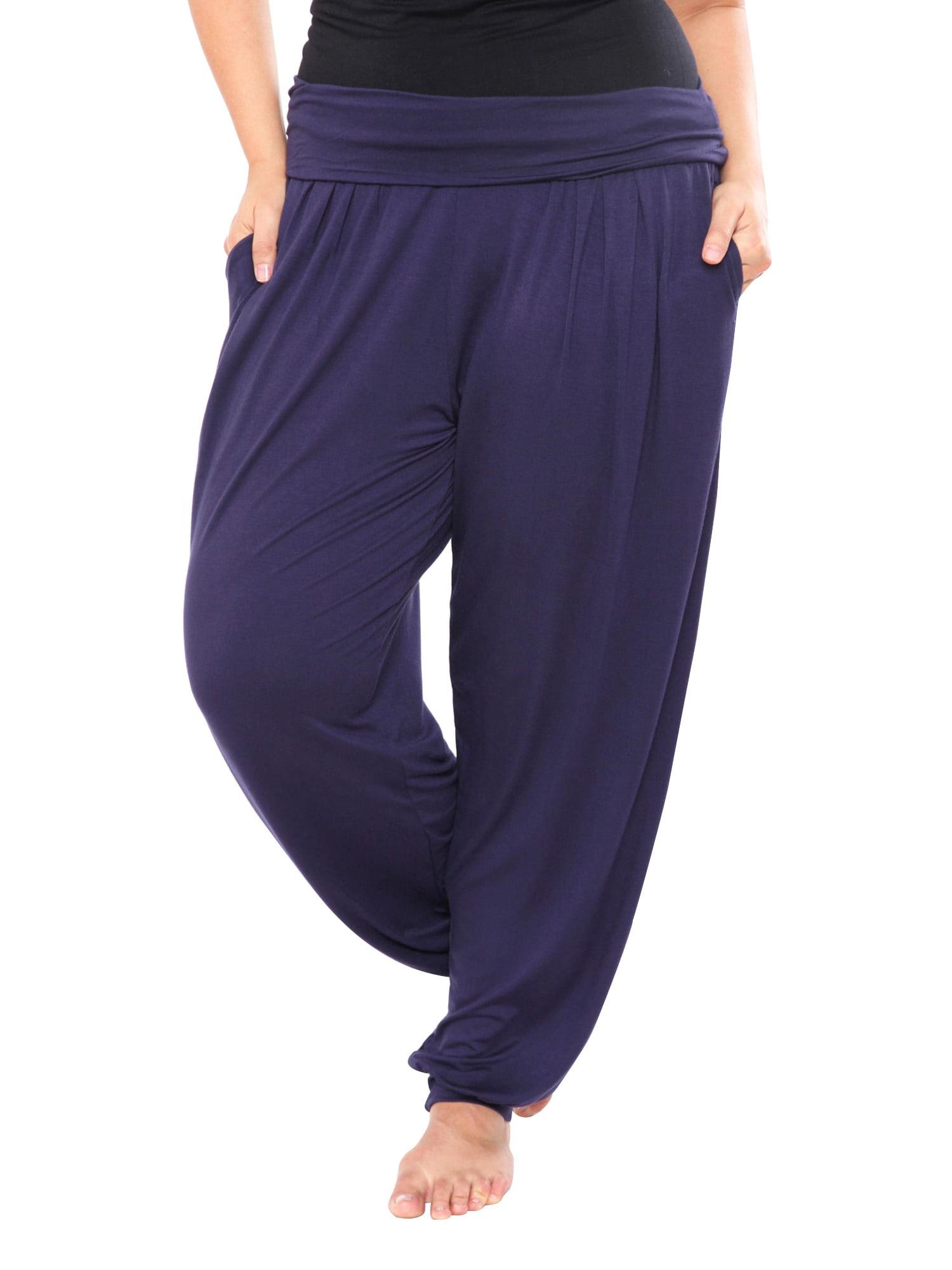 Plus Size Purple Harem Pants