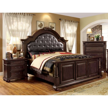 Furniture Of America Angelica English Style Brown Cherry 3 Piece Bedroom Set