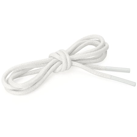 Round Waxed Shoelace Color Oxford Shoestring Dress Shoe Boots White 160cm - image 1 of 4