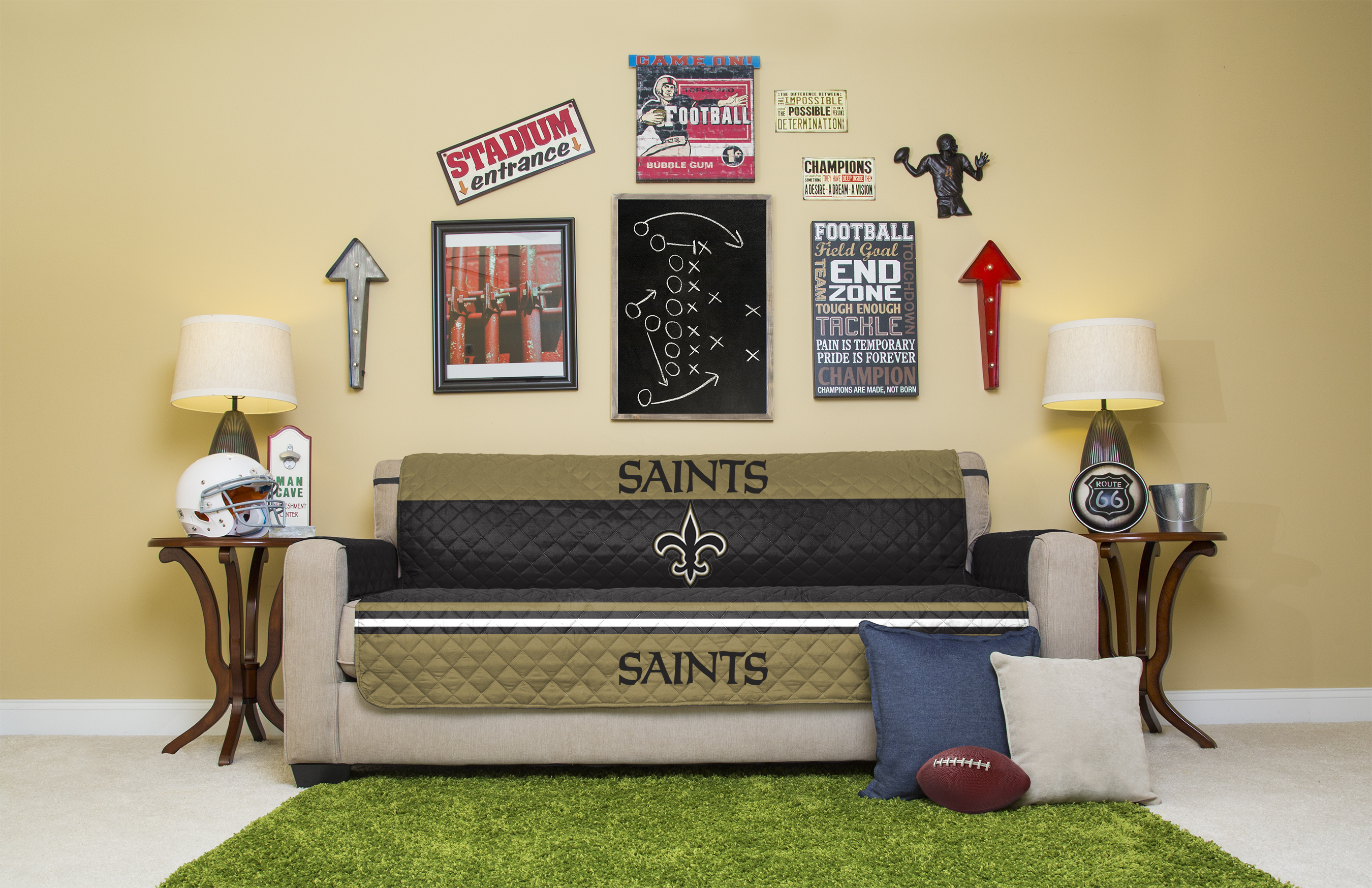 Amazing Nfl Licensed Furniture Protector Sofa Couch Cover Walmart Com Uwap Interior Chair Design Uwaporg