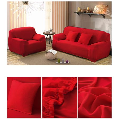 Couch Sofa Slipcovers, Elastic Full Stretch Sofa Furniture Protector Cover Home Lightweight Polyester Soft Slipcover(Coffee,1 Seat)