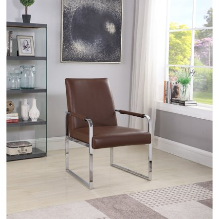 Pleasing Best Master Furniture Brown Faux Leather Accent Chair Ibusinesslaw Wood Chair Design Ideas Ibusinesslaworg