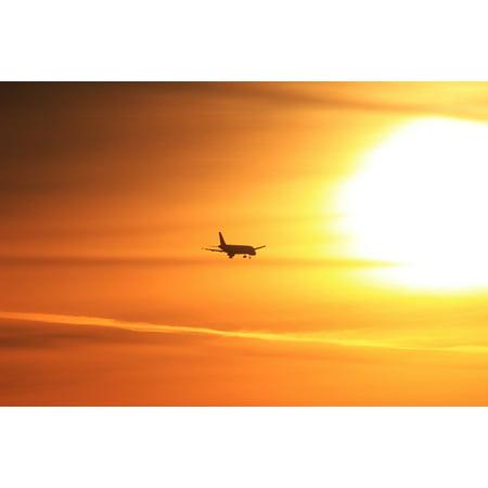 LAMINATED POSTER Travel Sun Sunset Aviation Airplane Plane Sunrise Poster Print 24 x 36