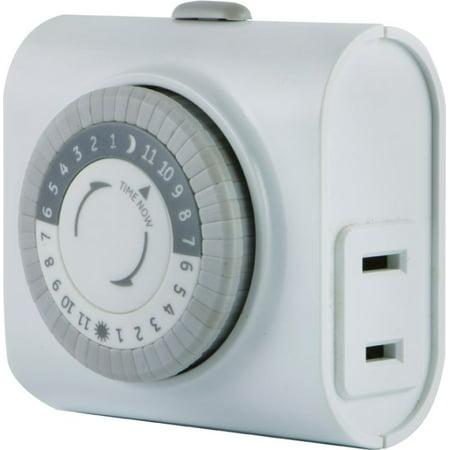 GE 24-Hour Indoor Basic Plug-In Timer, 15119