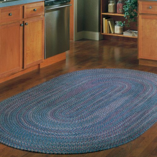 Colonial Mills Twilight Braided Rug - Federal Blue