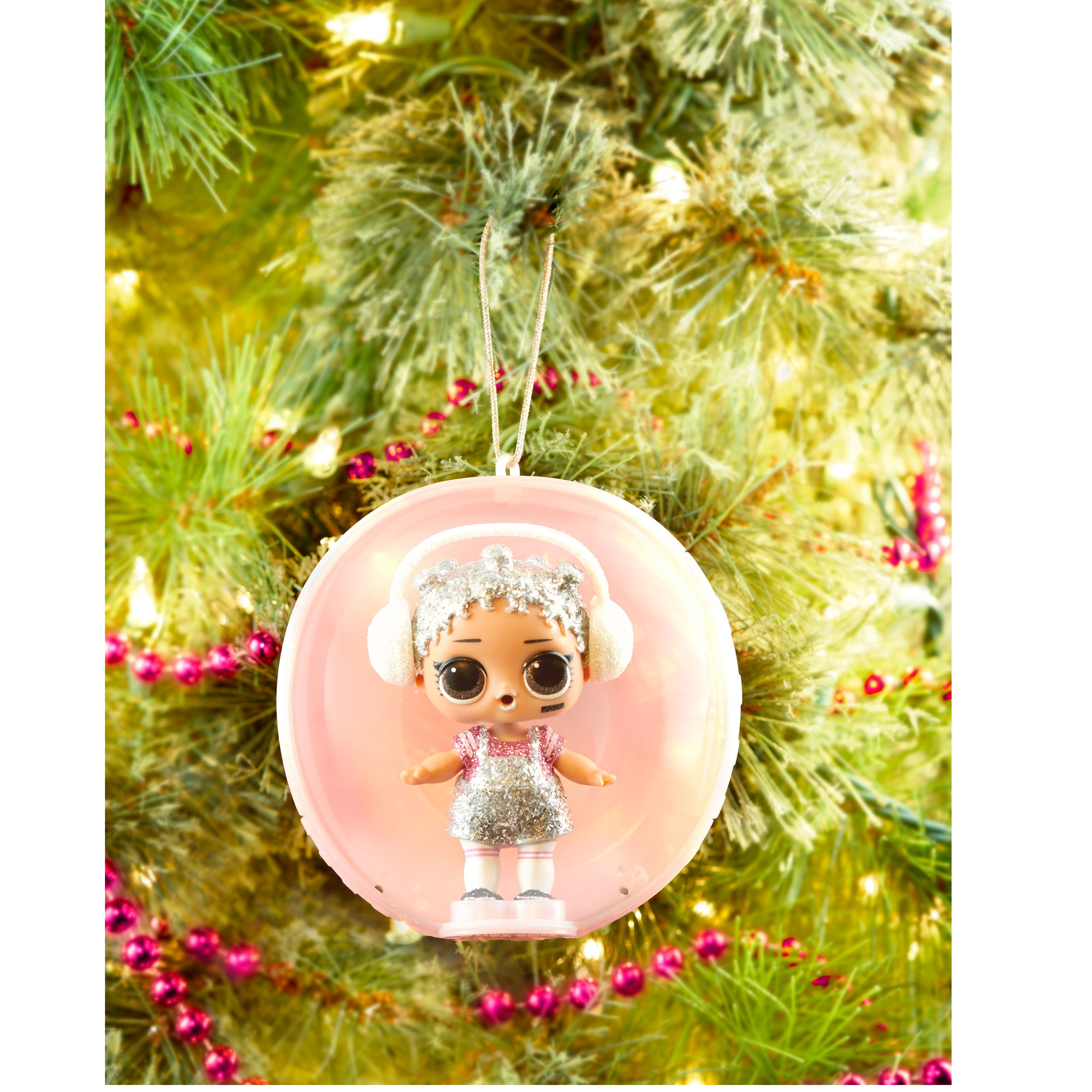 LOL Surprise Bling Series Splash Queen Holiday Doll Christmas Tree Ornament NEW