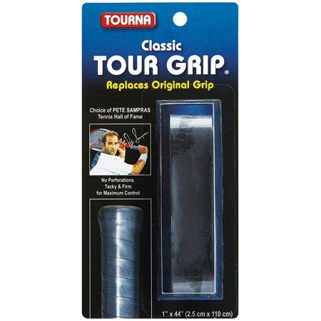 Tourna Tennis Racquet Replacement Grip Sampras Tour Grip 1.8 MM Black CTGS-BK