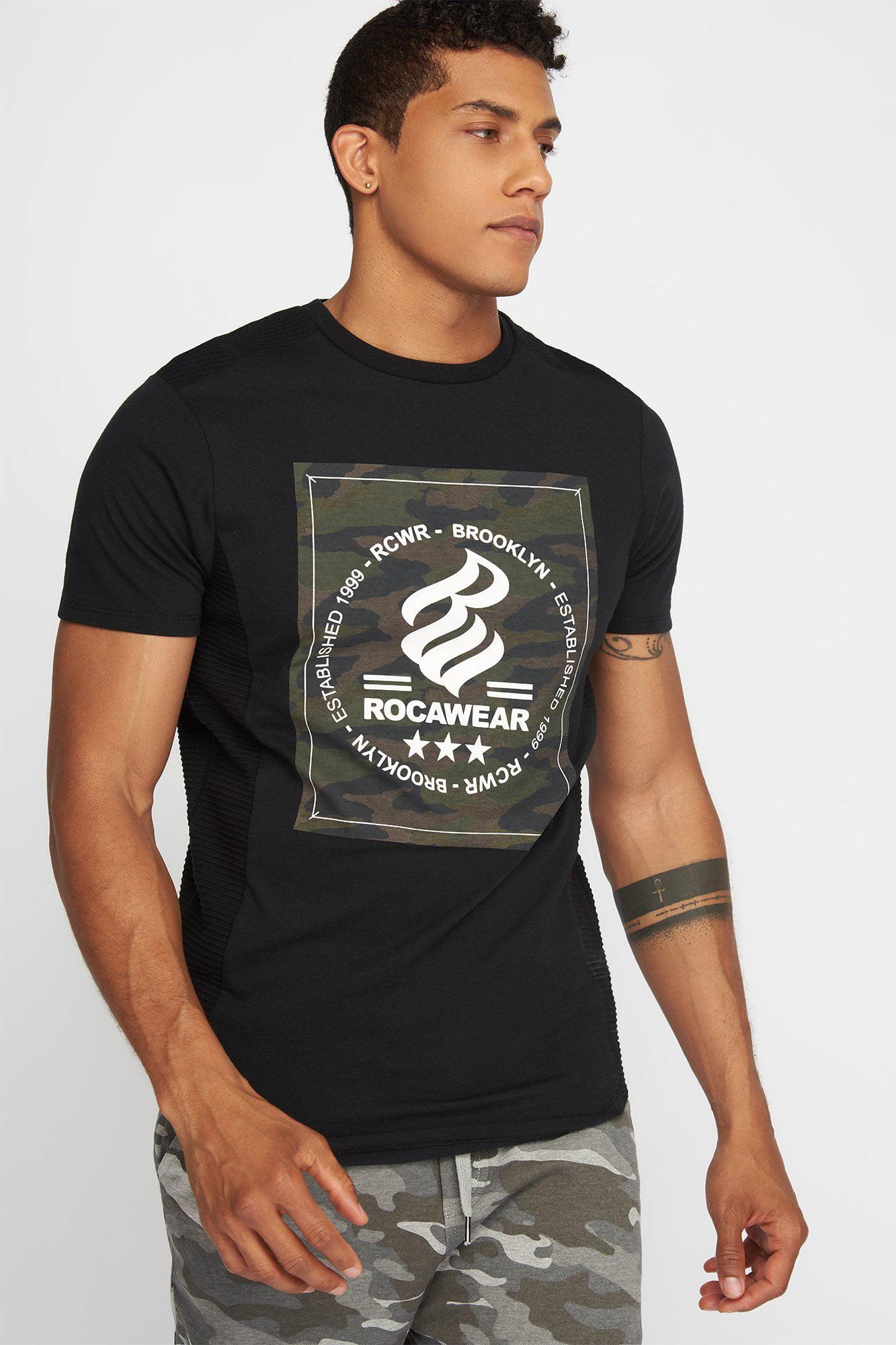 Urban Planet Men s Rocawear Graphic Camo Box Ribbed Side T-Shirt bd5820e6f9c