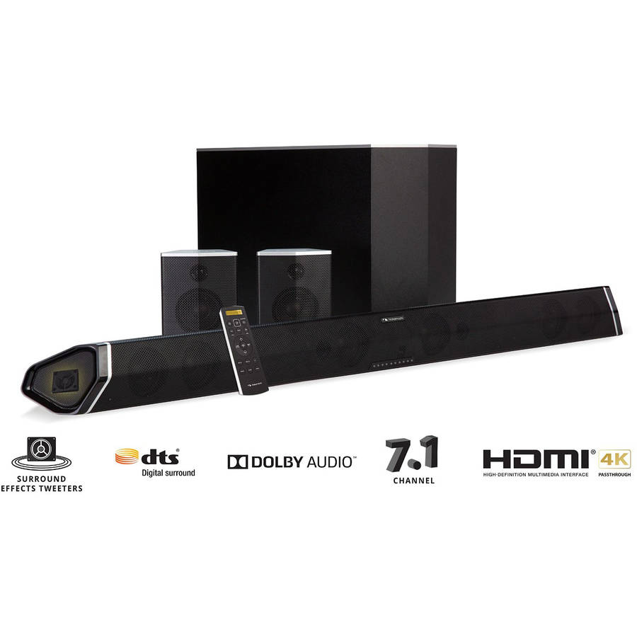 "Nakamichi ShockWafe Pro 7.1 45"" Soundbar with Wireless Subwoofer and Satellite Speakers"