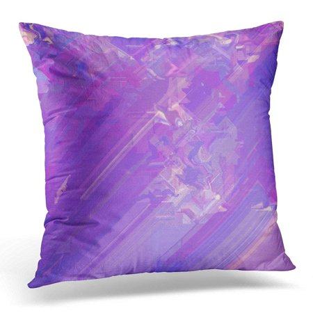 Glitch Music - ARHOME Digital of Glitch Manipulations Abstract Pink Purple and Yellow Shades and Visualization Music Artistic Pillow Case Pillow Cover 20x20 inch