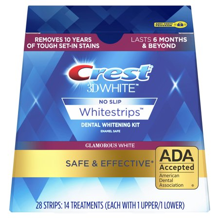 Crest 3D White Whitestrips Glamorous White Teeth Whitening Kit, 14 Treatments