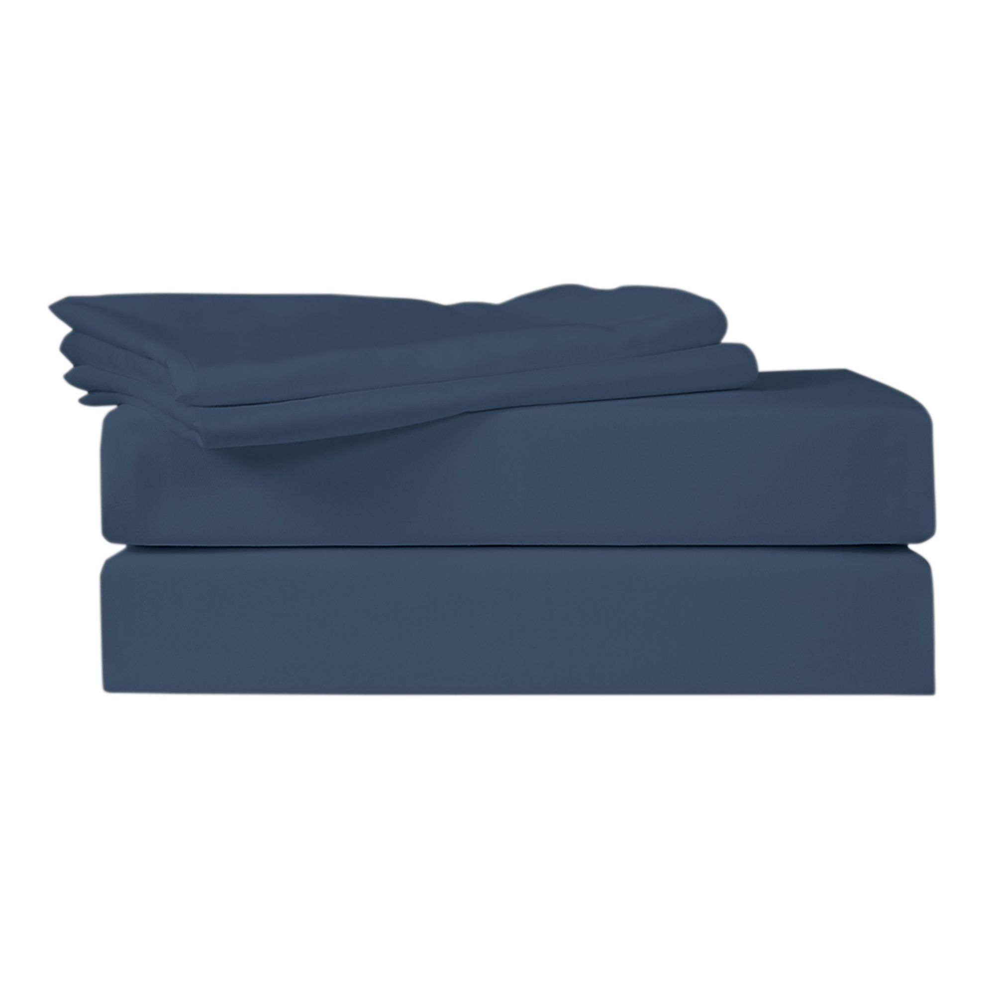 Just Linen 400 Thread Count 100 Egyptian Quality Cotton Sa Solid Patriot Blue Color Queen Bedding Sheet Set With Deep Pocketed Ed Sheets