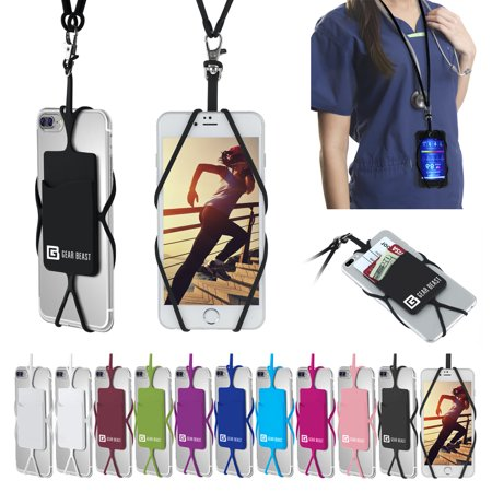- Cell Phone Lanyard Strap, Gear Beast Universal Smartphone Case Cover Holder Lanyard Necklace Wrist Strap With ID Card Slot For iPhone X 8 7 6S 6 Plus Galaxy S9 S8 S7 S6 Edge Note 8 5 and Other Phones