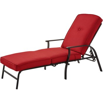 Mainstays Belden Park Outdoor Chaise Lounge with Cushion
