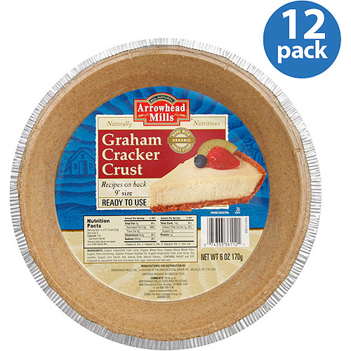 Arrowhead Mills Graham Cracker Crust, 6 oz, (Pack of 12)