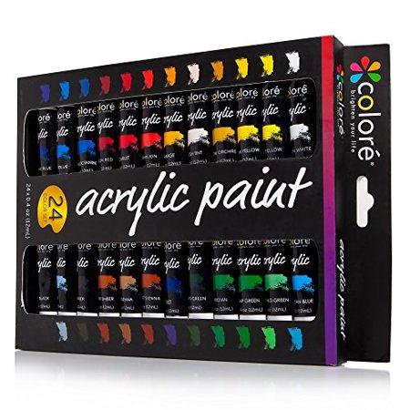 colore acrylic paint set - 24 colors (Schwarze Colore)