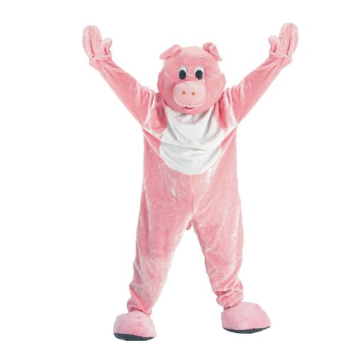 Adult Pig Mascot Costume Set Size: Extra Large