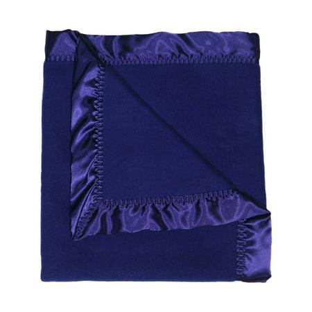 Royal Blue Receiving Blanket - Raindrops Baby Boys Fleece Boy Receiving Blanket, Dark Royal, 28