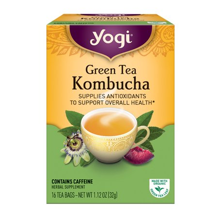 (6 Boxes) Yogi Tea, Green Tea Kombucha Tea, Tea Bags, 16 Ct, 1.12 OZ