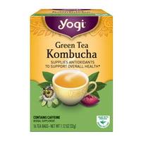 (3 Boxes) Yogi Tea, Green Tea Kombucha Tea, Tea Bags, 16 Ct, 1.12 OZ