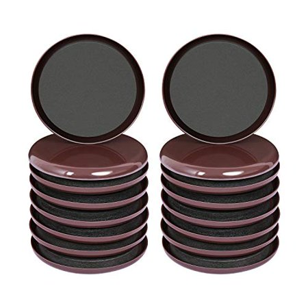 Ezprotekt 16 Pack Reusable Furniture Slider for Carpet,3.5 Inch Round Brown Furniture Mover,Furniture Sliders Carpet Sliders Furniture Moving Sliders Furniture Moving Pads Furniture Glides Ezprotekt carpet furniture sliders protect your furniture and floor/carpet for a long time.