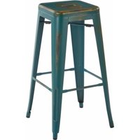 "Bristow 30"" Antique Metal Barstool, 2-Pack"