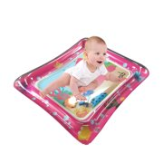 50 * 60cm Baby Colorful Inflatable Water Play Mat Tummy Time Infant Fun Mat Child Development Play Center with Hand Inflator Pump for 4~6 Years Old Infants--Pink