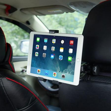 Car Headrest Mount Tablet Holder Swivel Cradle Q2V Compatible With Samsung Galaxy S8+, On5 Kids Tab 3 7.0 S8 active A 9.7 4 8.0 7.0 2 7 10.1 GT-P5210, S5, S10e S10+ S10 5G Note 5 NotePRO 12.2 (Samsung Tablet Case Model Gtp3113)