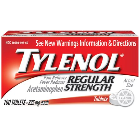 TYLENOL Force régulière comprimés, 325 mg, 100 Nombre