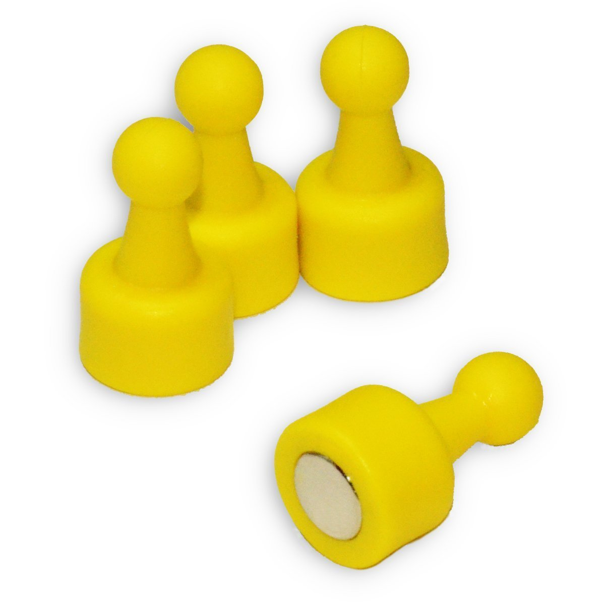 24 Ct. NeoPin® Yellow Magnetic Push Pins - Super Strong Neodymium Magnets. Great for Magnetic Whiteboards, Refrigerators, other Applications