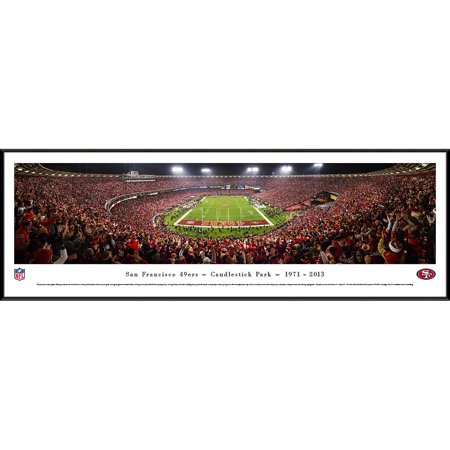 """San Francisco 49ers 40.25"""" x 13.75"""" Candlestick Park Standard Framed Panoramic Photo - No Size"""