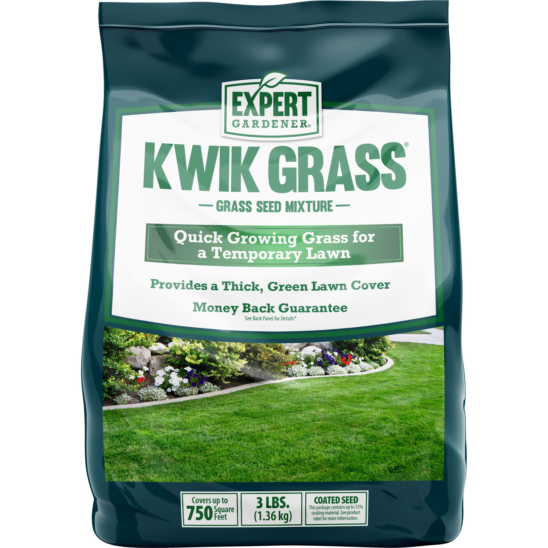 Expert Gardener Kwik Grass, Fast Establishing Temporary Grass Seed Mixture; 3 lb.