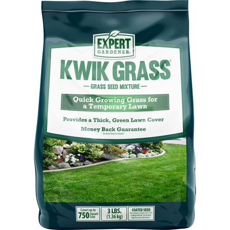 Expert Gardener Kwik Grass, Fast Establishing Temporary Grass Seed Mixture; 3 lb.