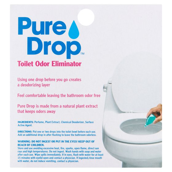 Pure Drop Toilet Odor Eliminator Fl Oz Walmartcom - Bathroom odor control