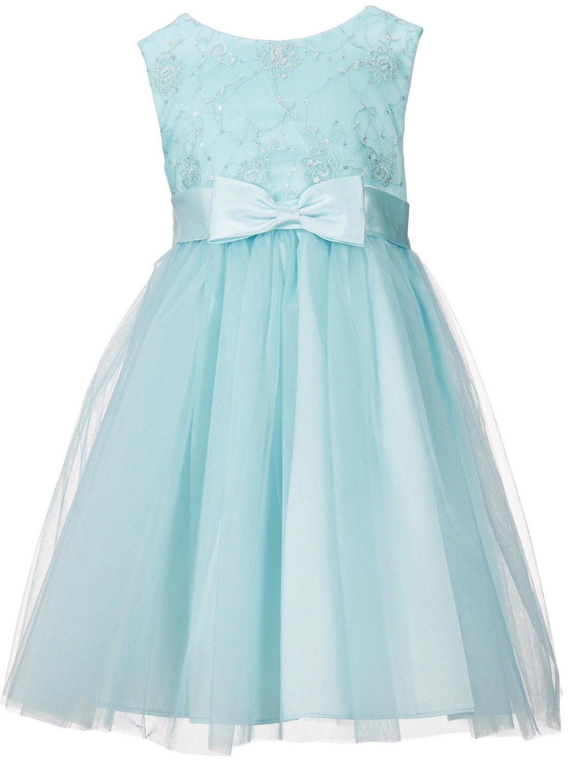 Bonnie Jean Little Girls Spangled Embroidered Tulle-Overlay Skirt Dress 4