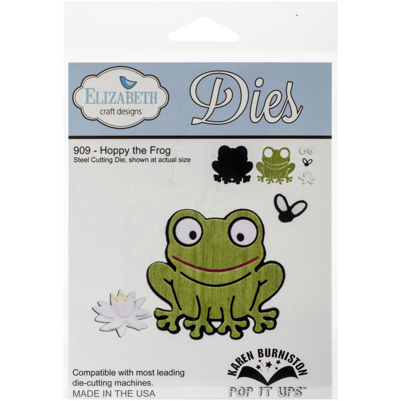 "Elizabeth Craft Pop It Up Metal Dies By Karen Burniston-hoppy The Frog, 2.38""x4.38"""