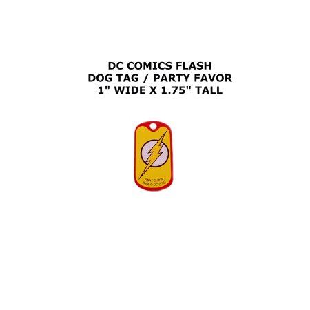 The Flash DC Comics Cartoon Theme Logo Dog Tag Necklace Party (Flashing Dog Tags)