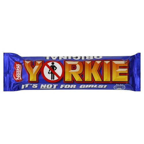 10- Pack of Nestle Yorkie Original Chunky Milk Chocolate Bar, 46g Each Bar, Made in the Uk