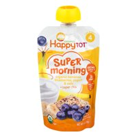 Happytot Organics Super Morning Organic Bananas, Blueberries, Yogurts & Oats + Super Chia, 4oz