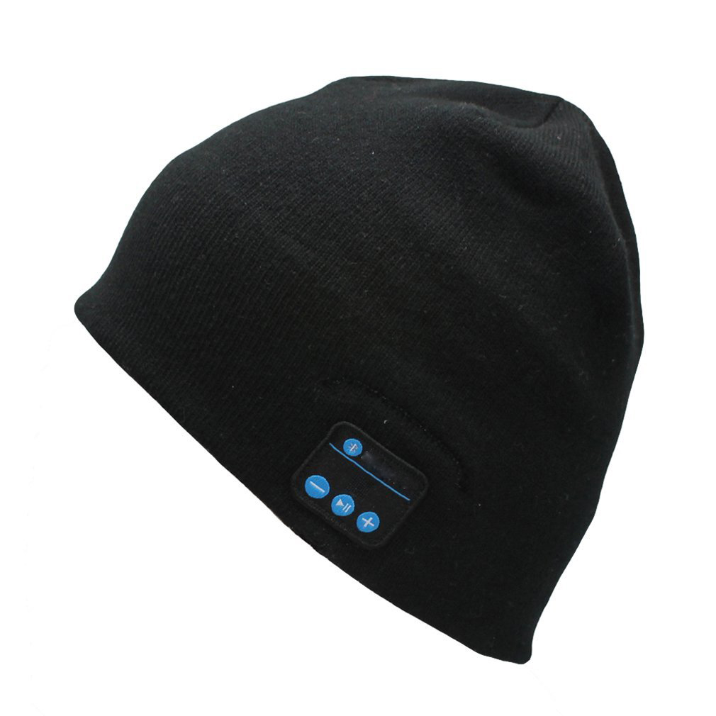 Bluetooth Black Beanie Headphone Headset Hands-Free w Built In Speakers    Mic - Walmart.com 16623e1224f