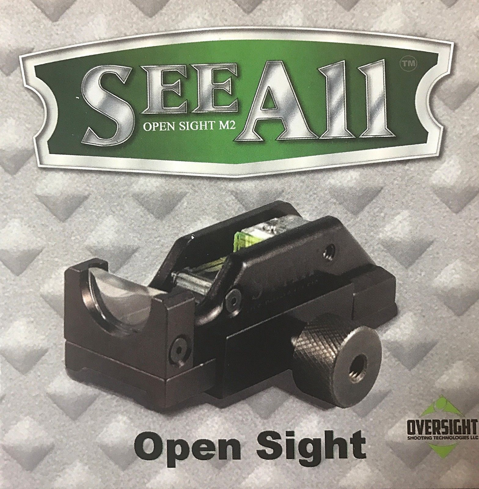 See All Open Sight M2 with Delta Triangular Reticle - Rail Mounted for Rifles Shotguns Pistols