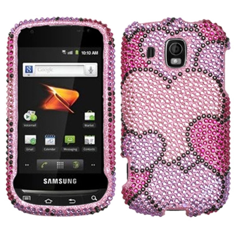 Insten Cloudy Hearts Diamante Case Cover For Samsung M930 Transform Ultra
