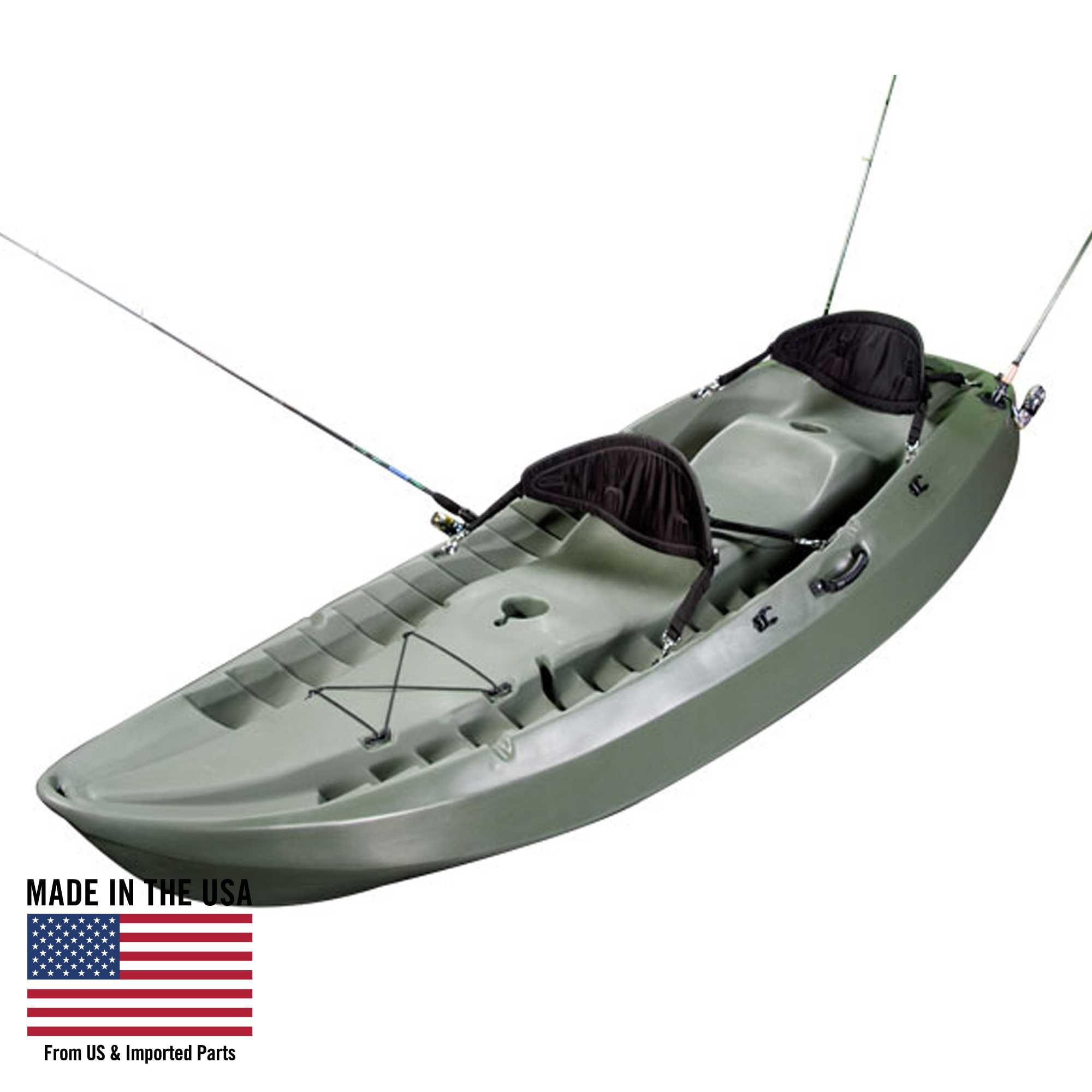Lifetime Sport Fisher Angler 100 Kayak (Paddles and 2 Backrests Included), 90121