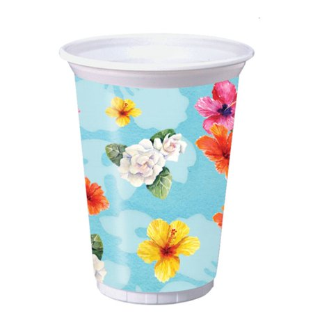 Flamingo Party 16 oz Plastic Cups (8 ct)](Plastic Flamingos Wholesale)