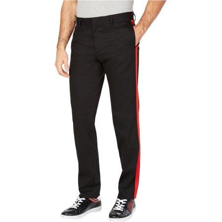 Calvin Klein Mens Red Stripe Casual Trouser Pants Knit Pant Casual Pants